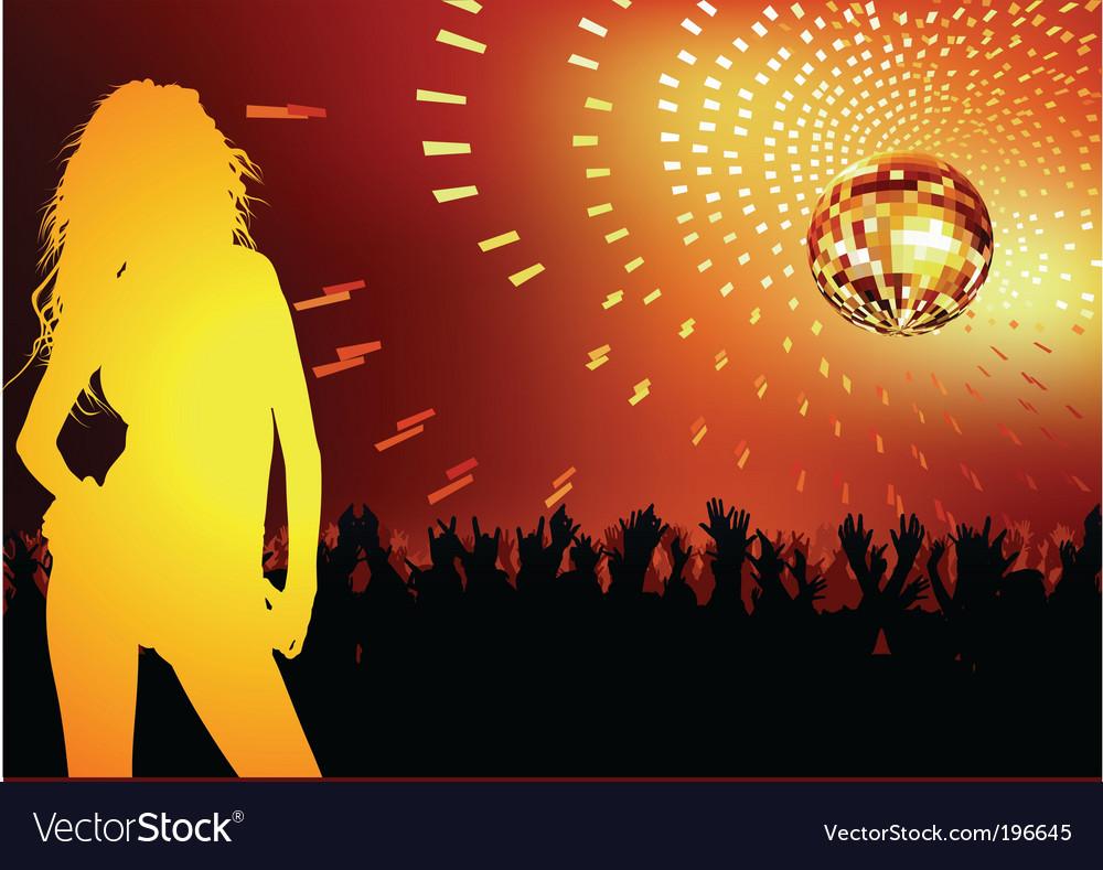 Disco dance party vector
