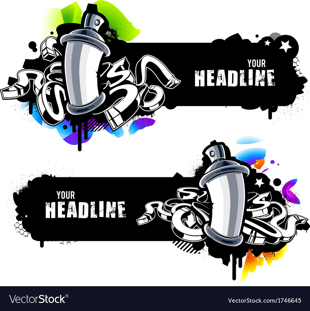 Graffiti banners vector