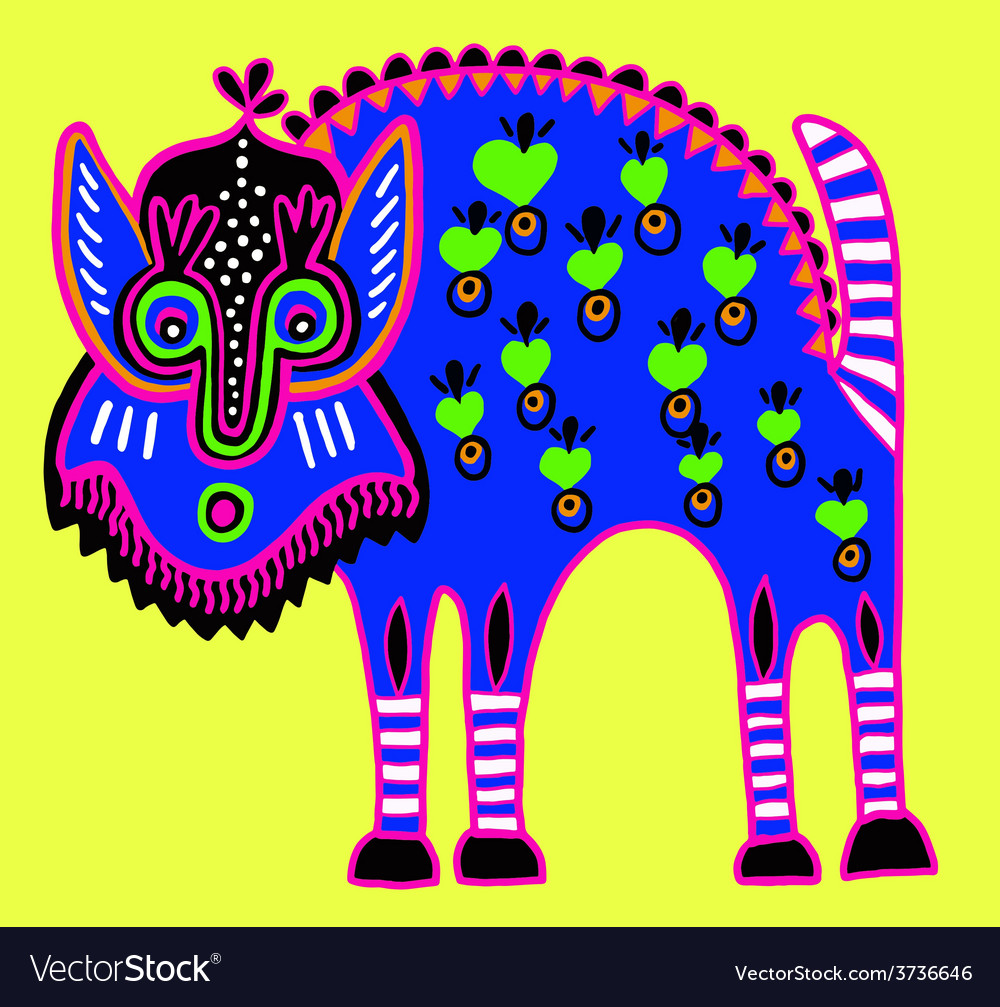 Unusual ukrainian traditional tribal art in vector