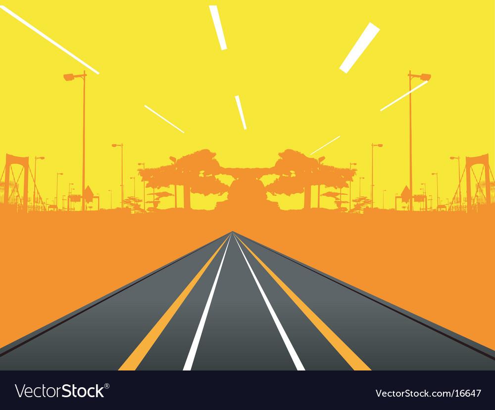 Urban road design vector