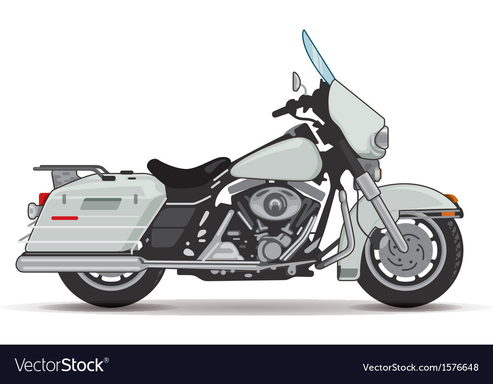 Big motorcycle vector