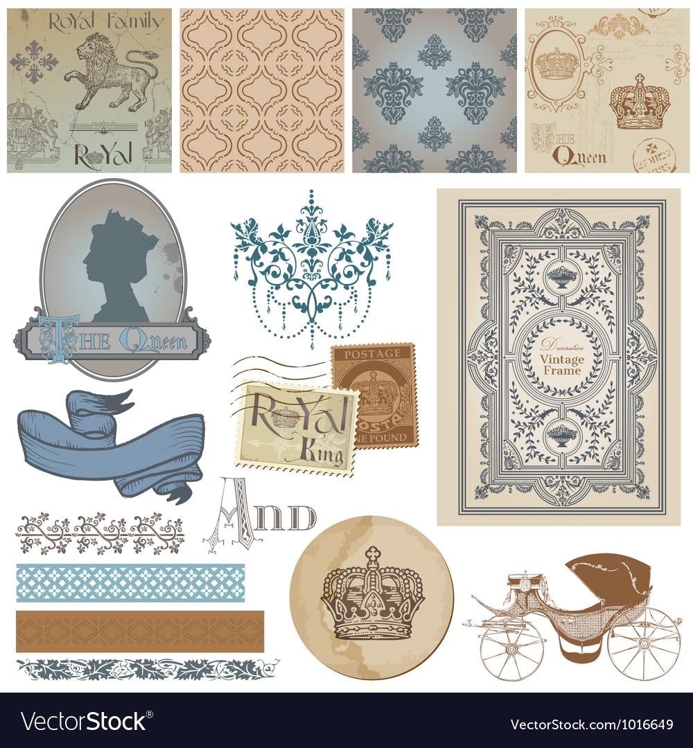 Design elements - vintage royalty set vector