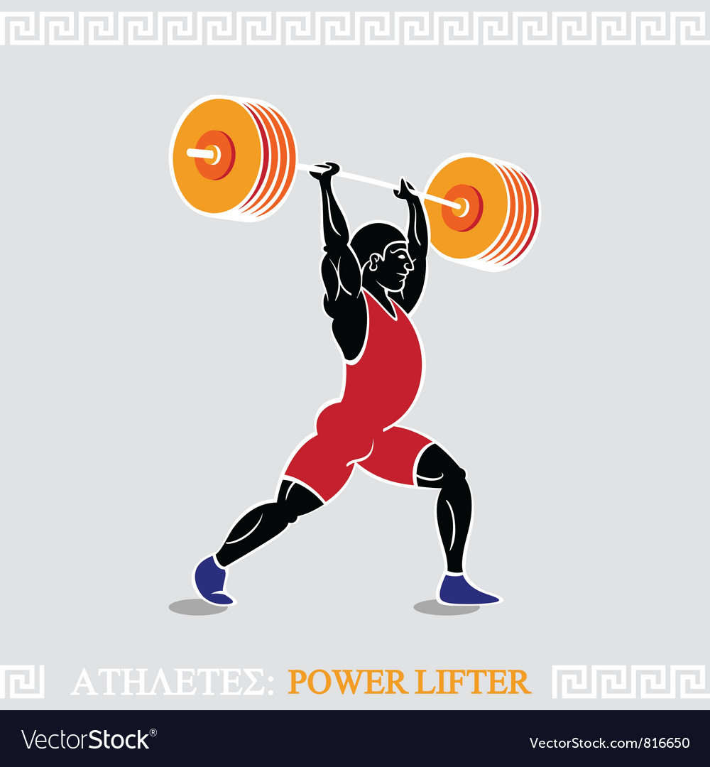 Athlete weight lifter vector