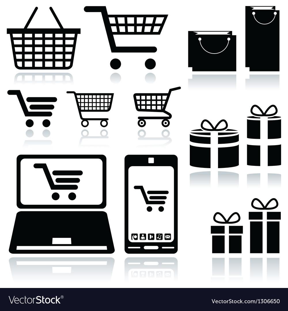Shopping cart sign vector