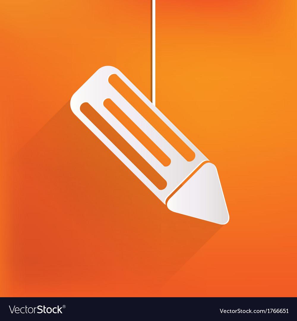 Pencil web icon vector