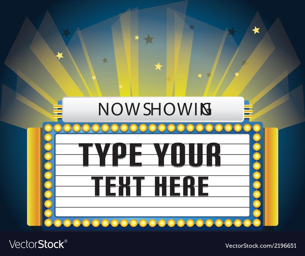 Retro cinema neon sign vector