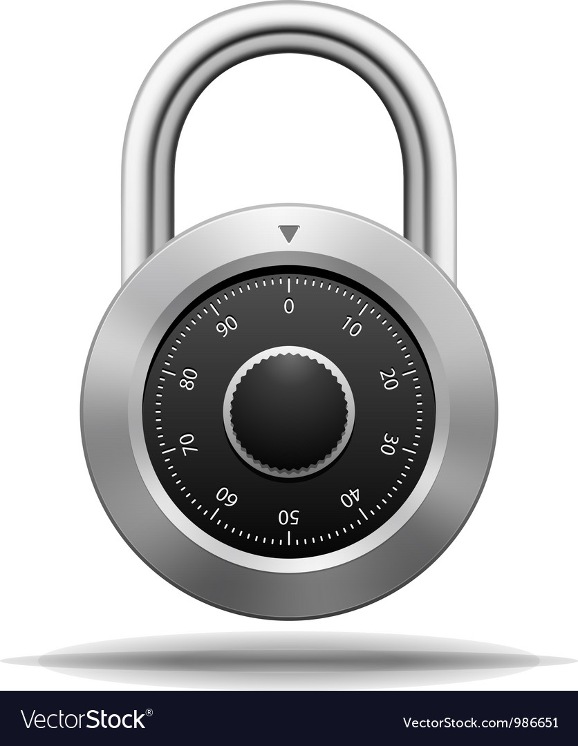 Security padlock vector