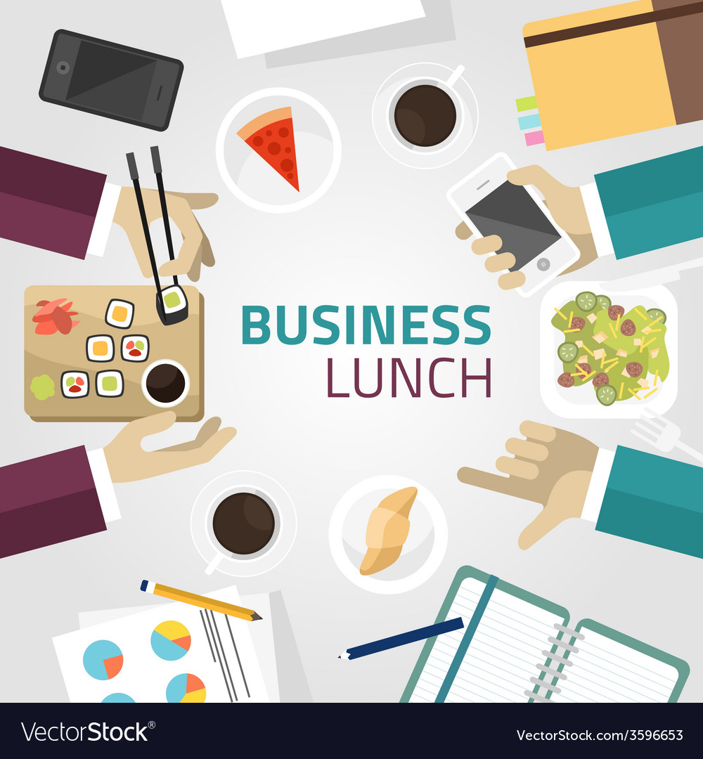 Food meal time top view concept flat design vector