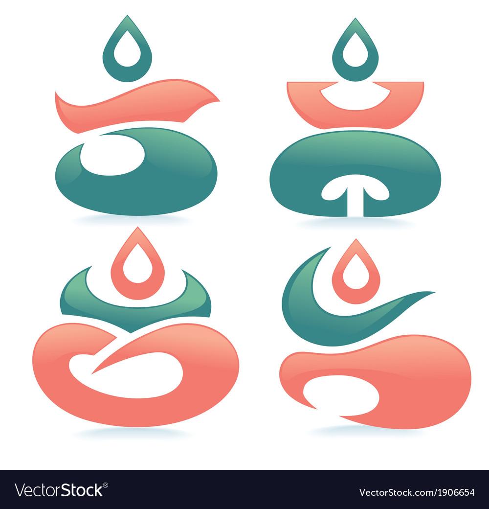 Spa and meditation vector