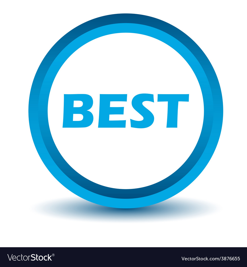 Blue best icon vector