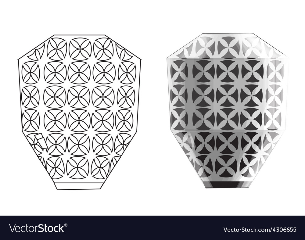 Crockery seven vector