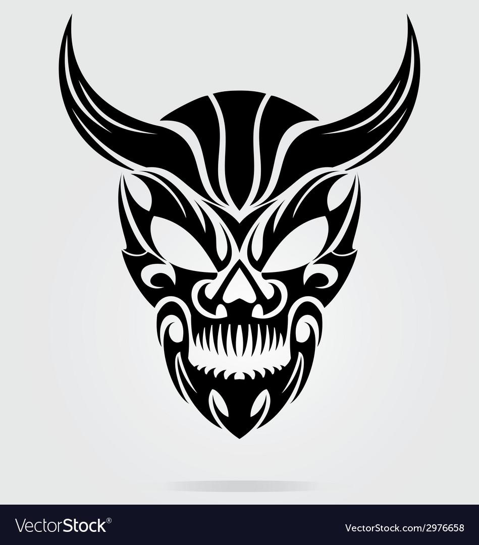 Demon head tribal vector