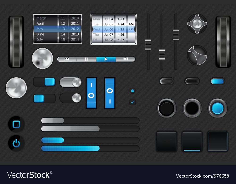 Gui for mobile device vector