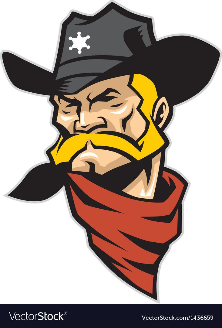 Sheriff head mascot vector
