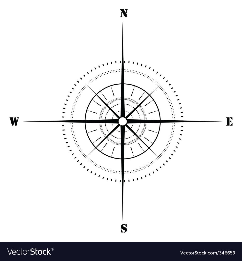 Sketchy compass vector