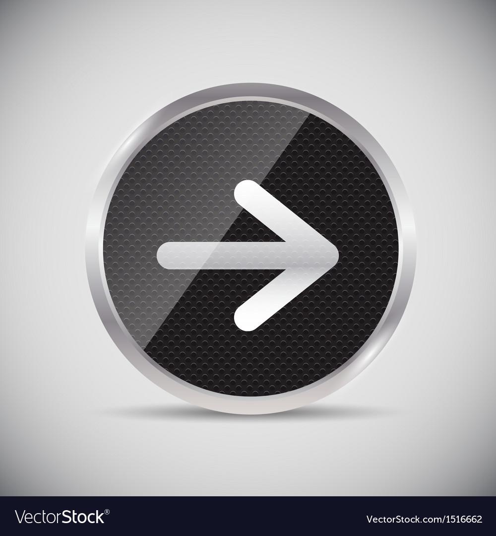 Shine glossy computer icon vector