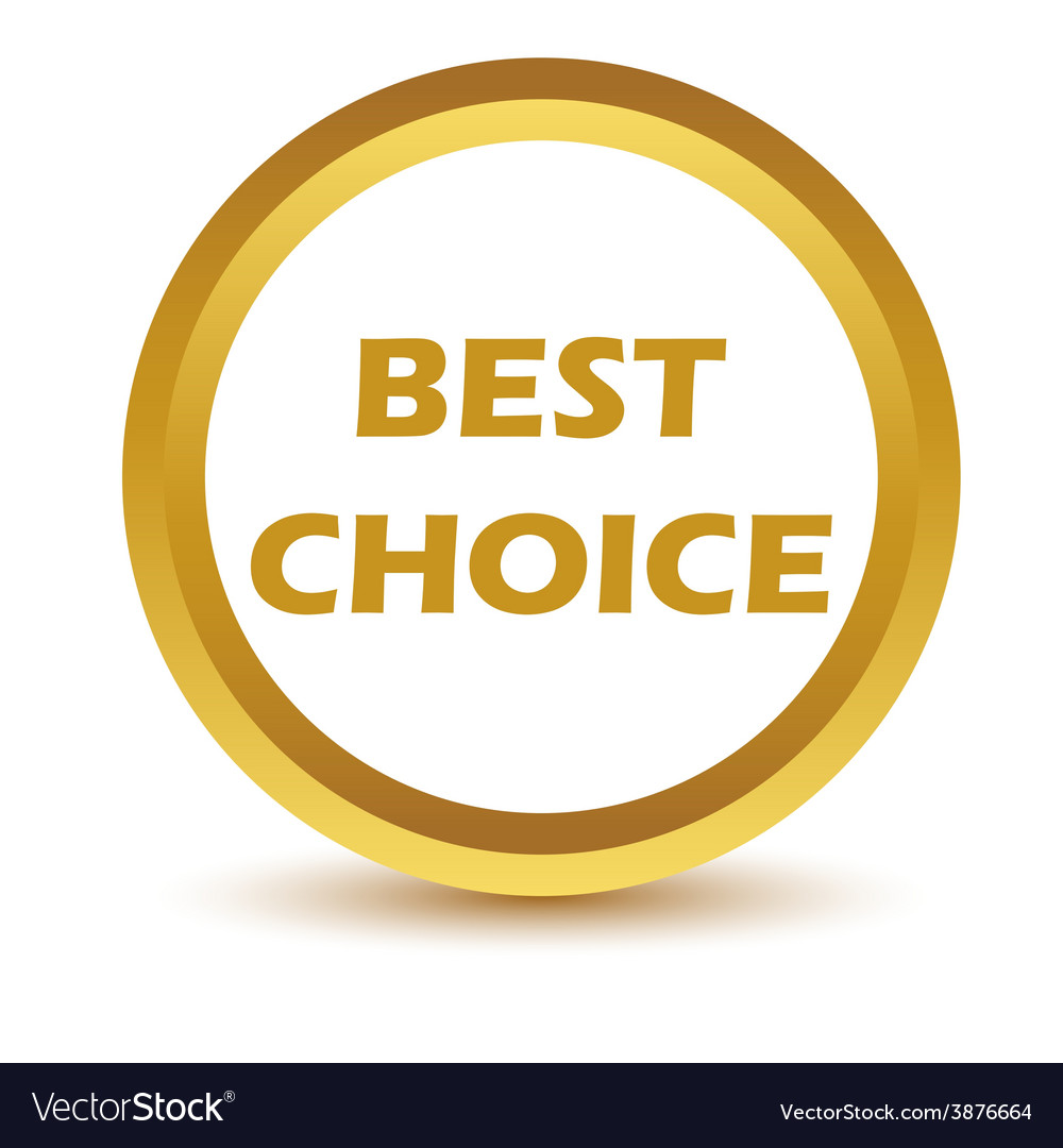 Gold best choice icon vector