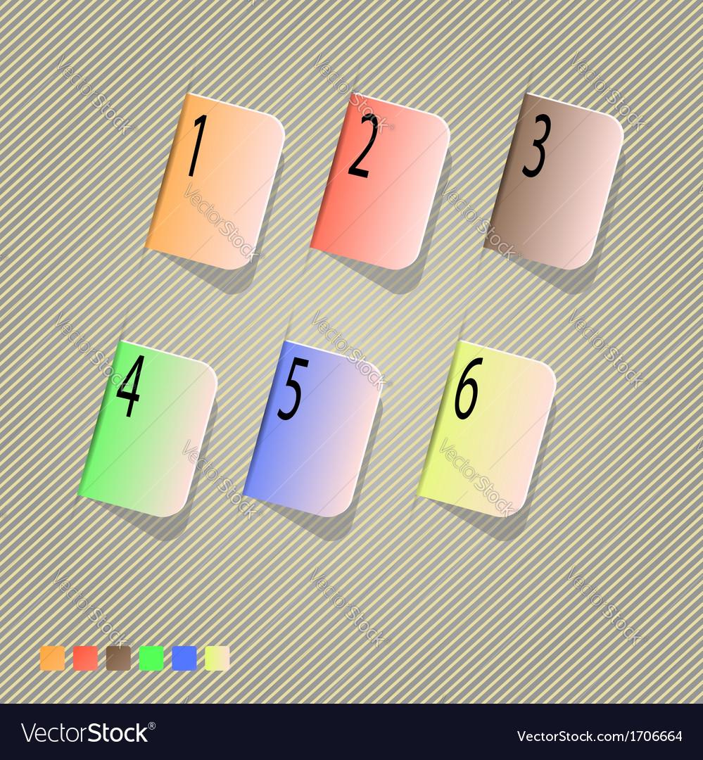 Progress icons vector