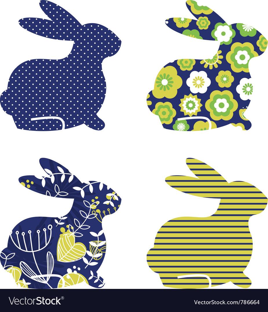 Spring bunny vector
