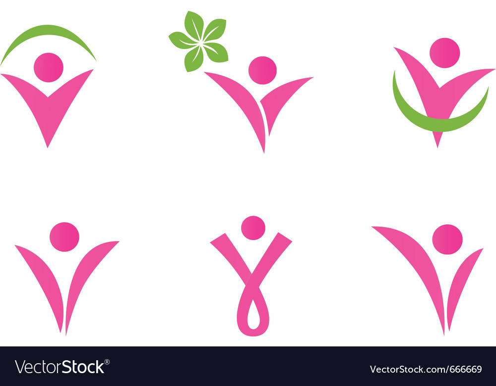 Abstract fit woman vector