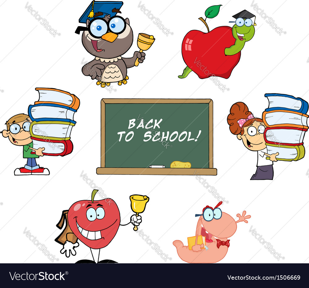 Back to school-collection vector