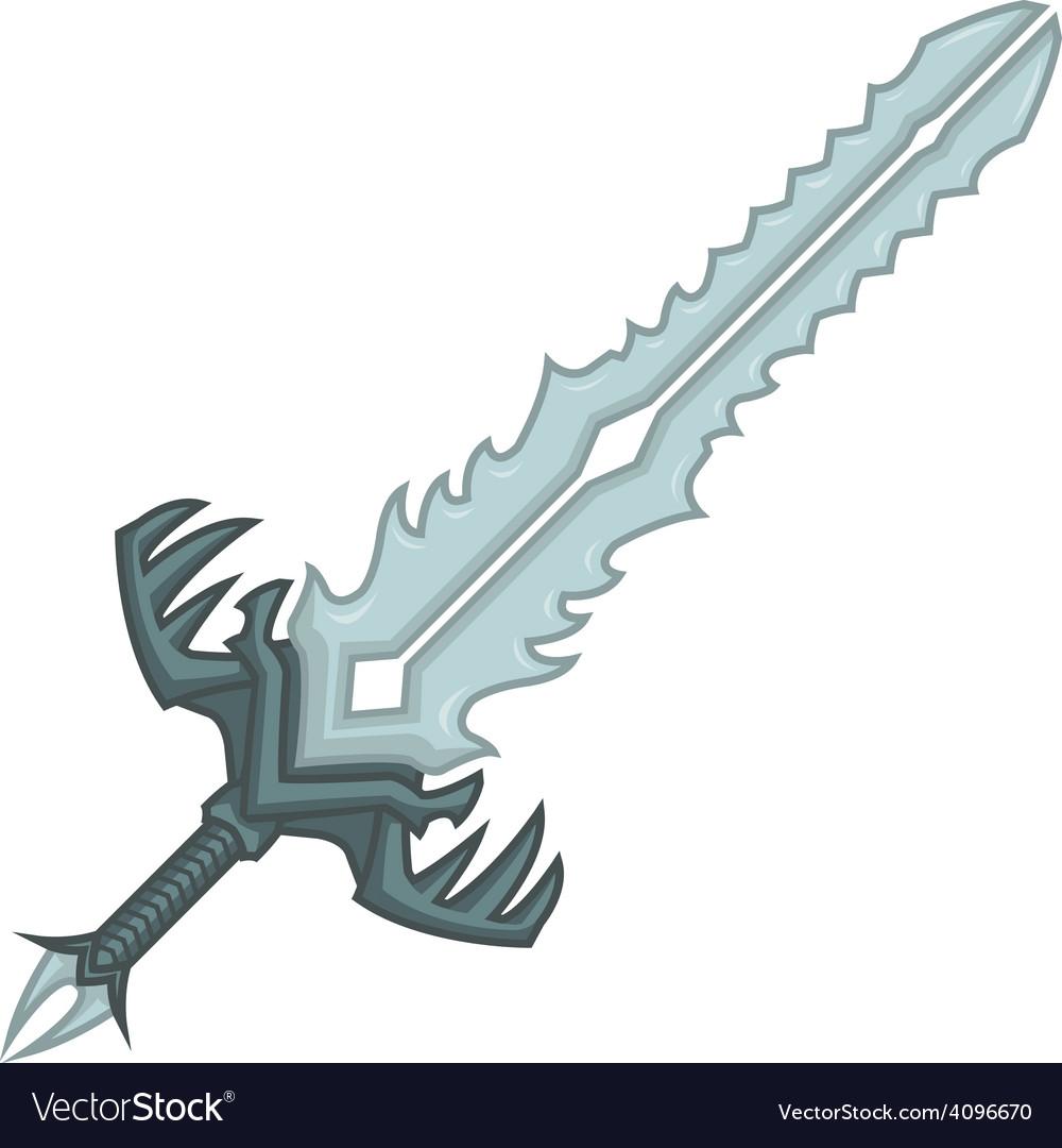 Crystal sword vector