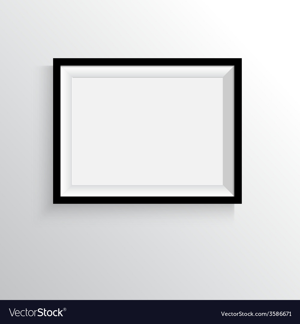 Black frame for paintings or photographs on the vector
