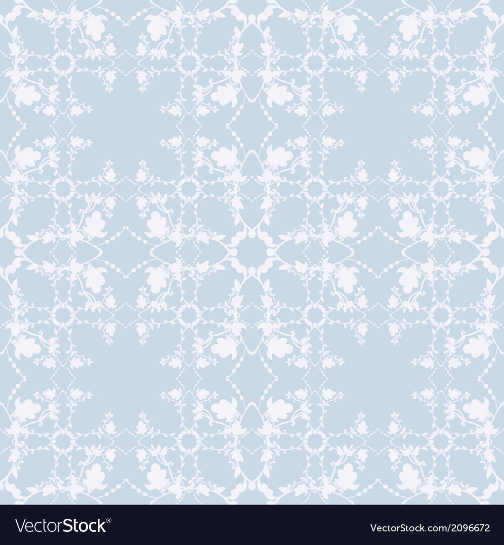 Neutral blue floral background swirl and curve vector