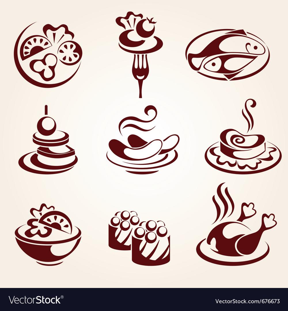 Food elements set vector