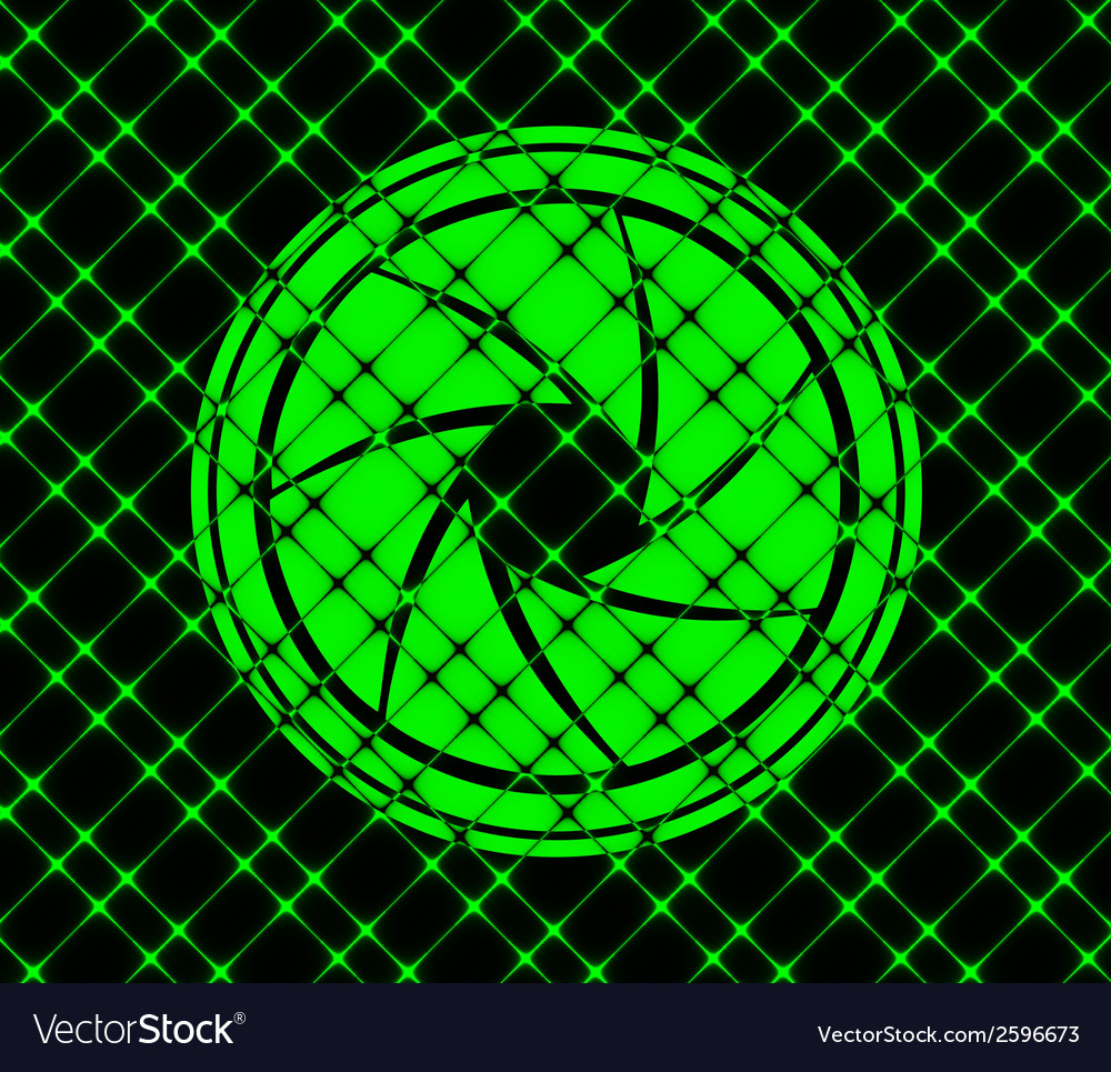 Photo camera diaphragm flat modern web button and vector
