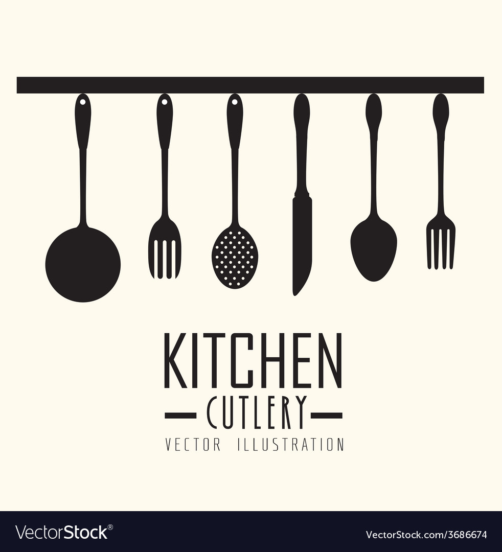 Kitchen design vector