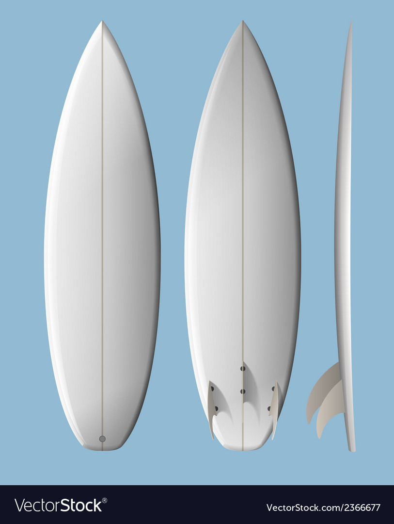 Surfboard shortboard vector