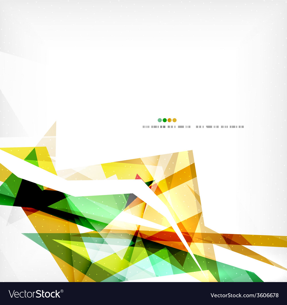 Angular geometric color shapes vector