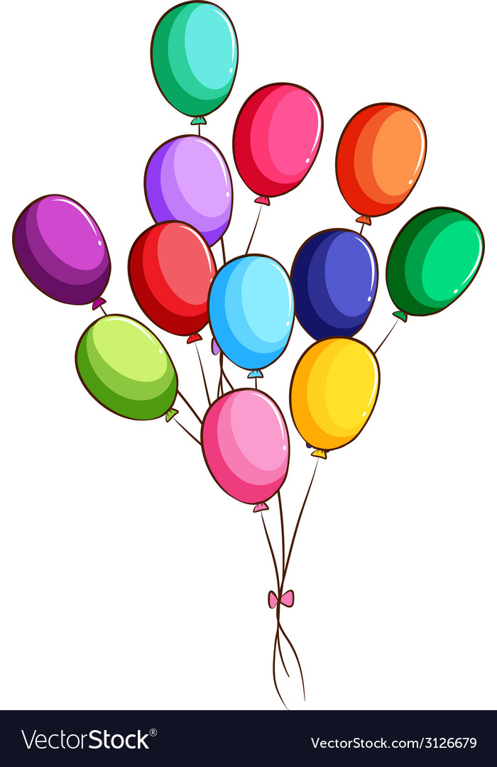 A simple drawing of a group of balloons vector