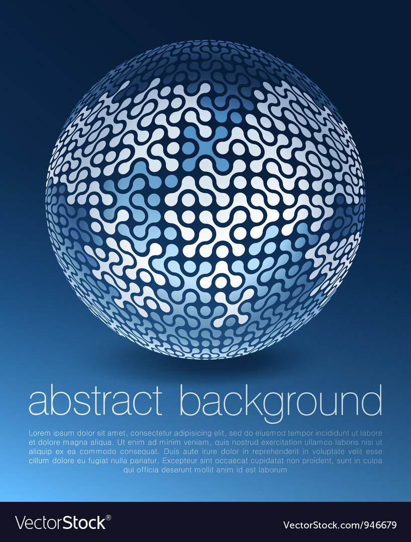 Abstract globe network concept vector