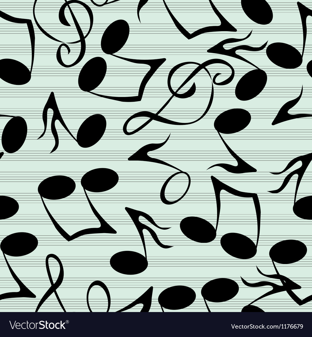 Musical notes pattern vector