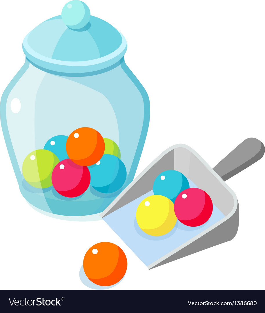 Icon candy and bottle vector