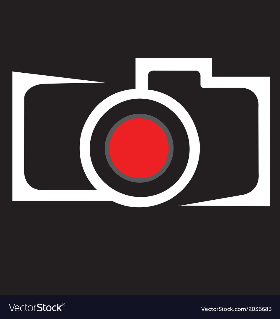 A camera sign image can be apply in any use vector