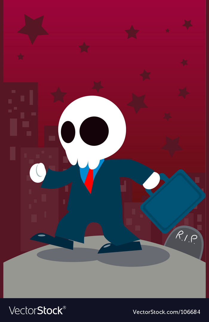 Businessman ghost vector