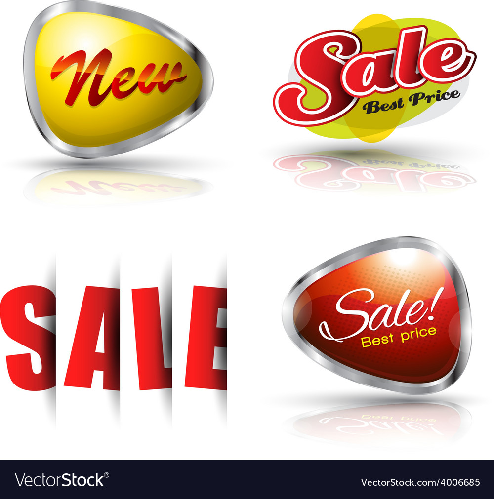 Sale and new banner set vector