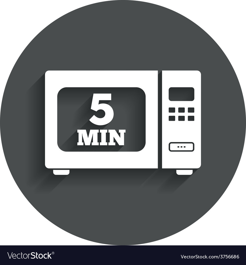 Cook in microwave oven sign icon electric stove vector