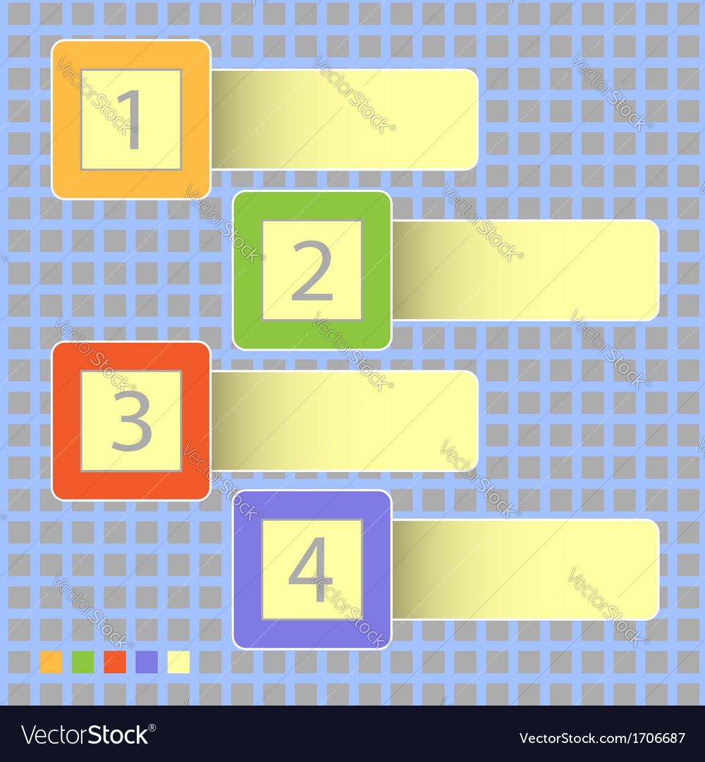Four progress icons vector