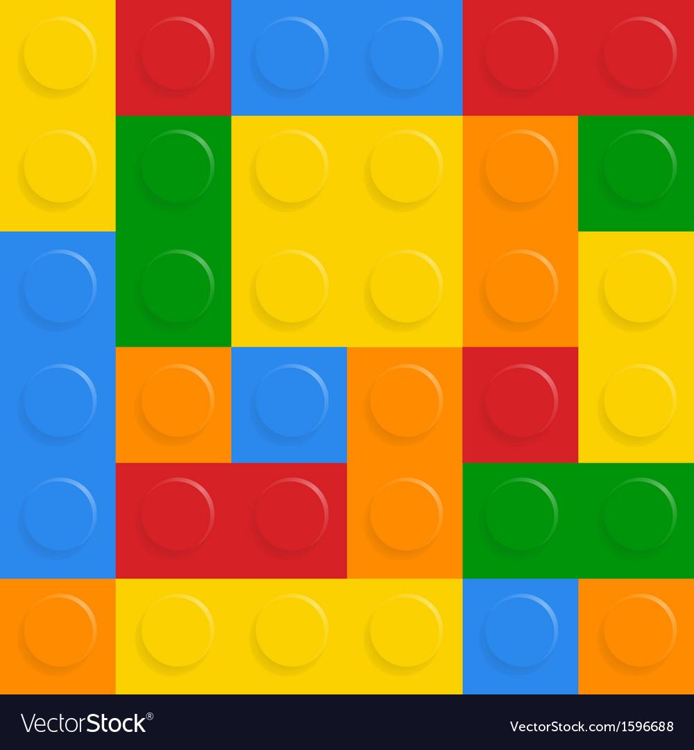 Block on white background vector