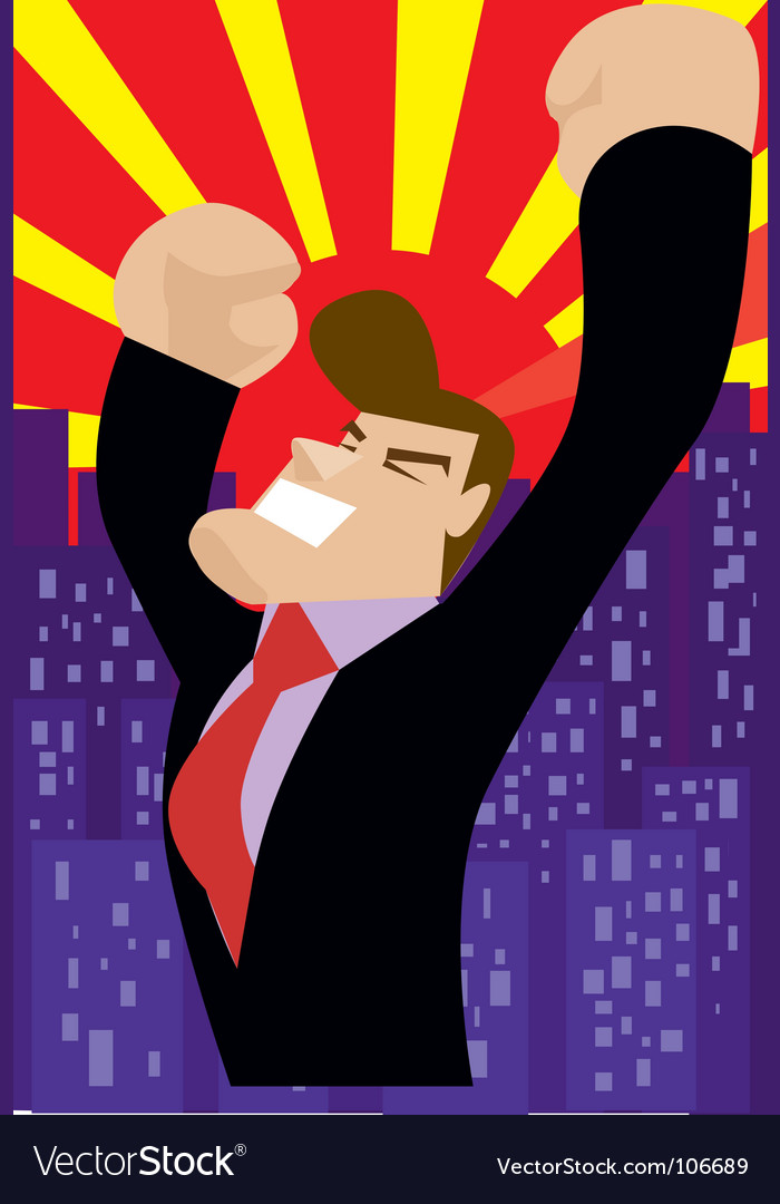 Victory businessman vector