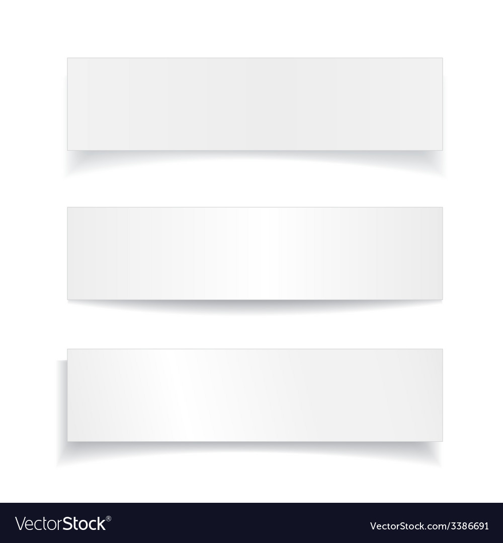 Set realistic paper sheet banner with different vector