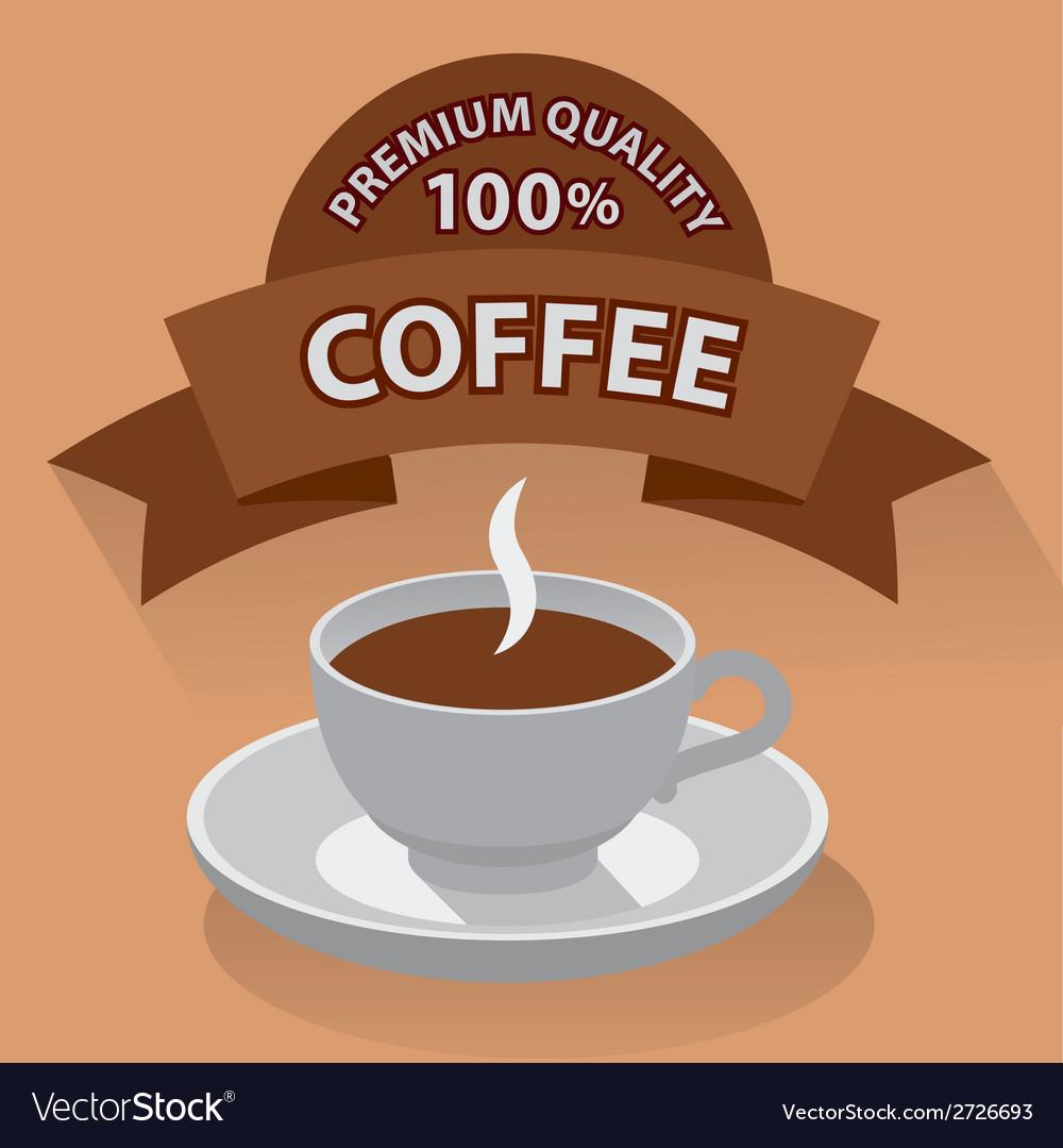 Coffe banner vector