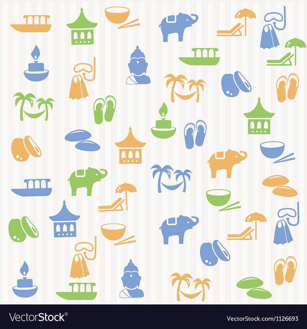 Thai seamless pattern vector