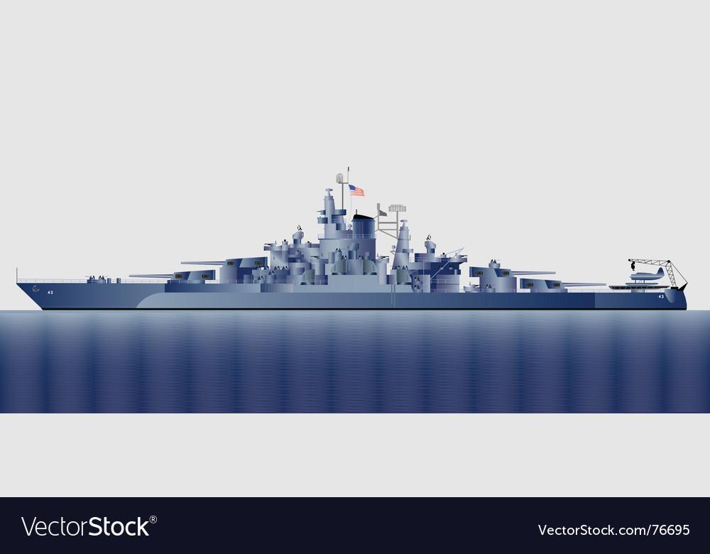 Battleship uss tennessee vector