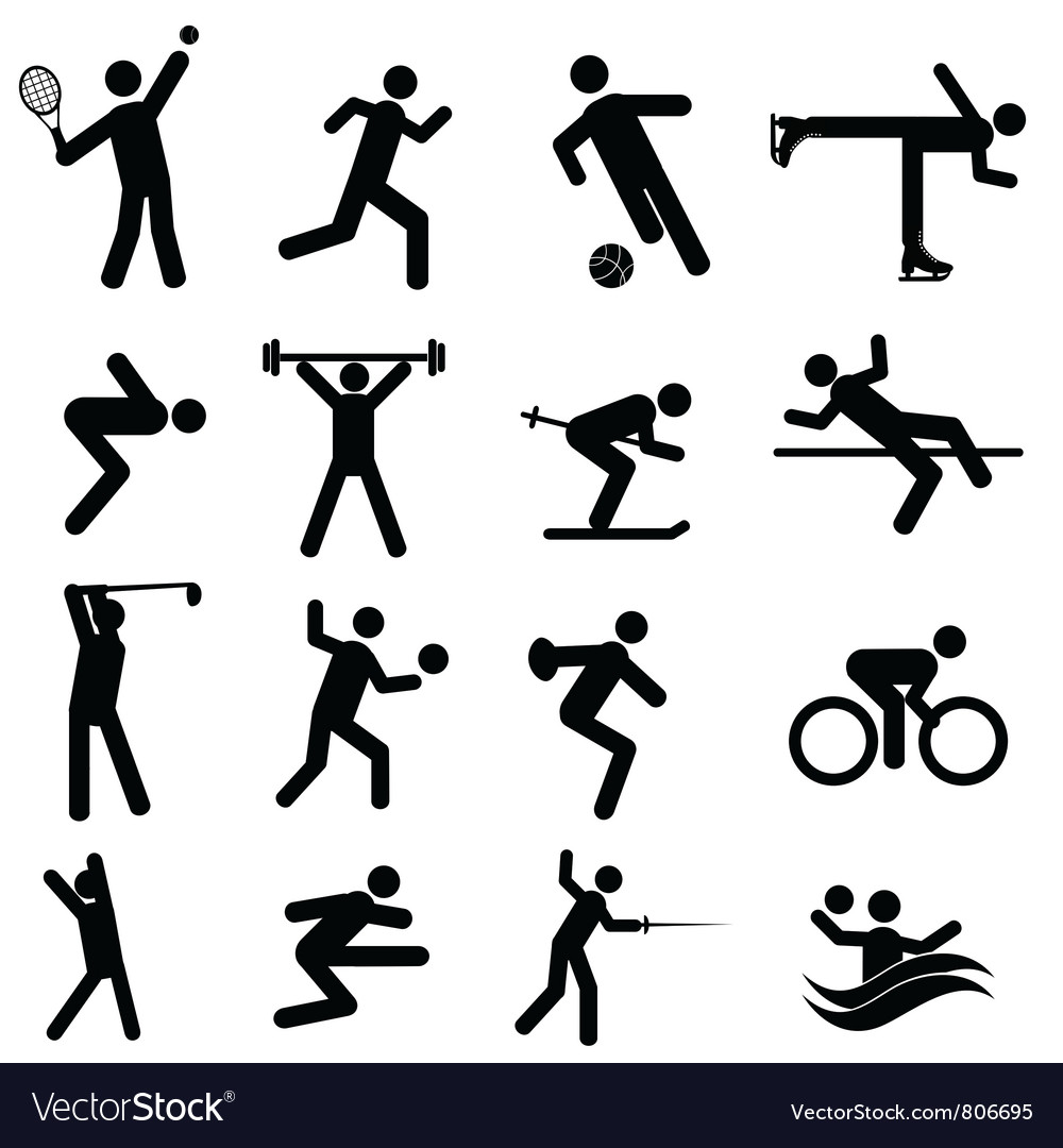 Olympic sport icons vector