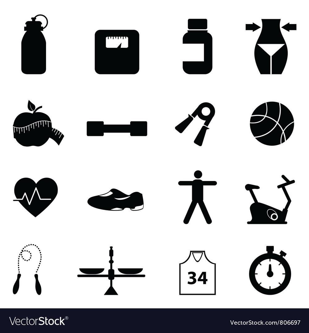 Health pictograms vector